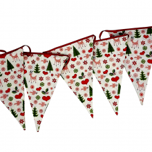 50's Christmas Fabric Bunting
