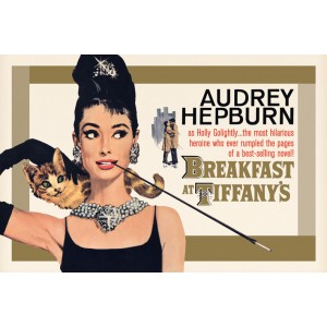 Плакат Audrey Hepburn Breakfast Gold
