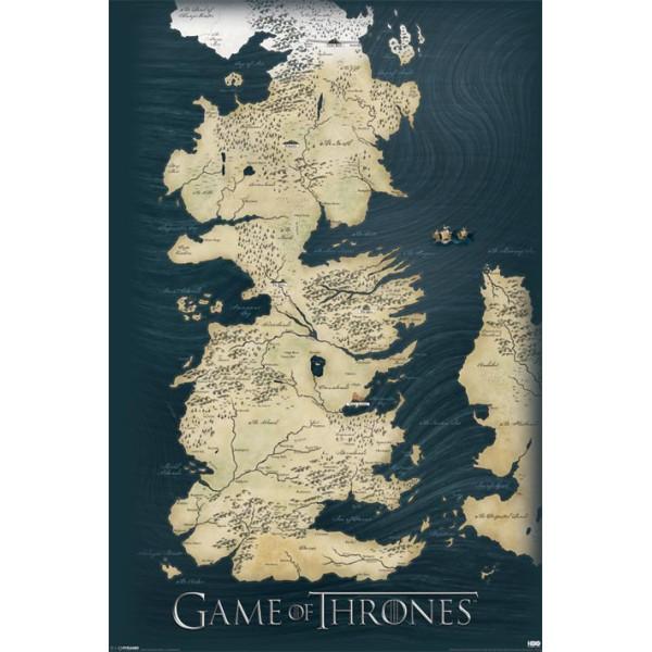 Плакат Игра на Тронове Карта 1
