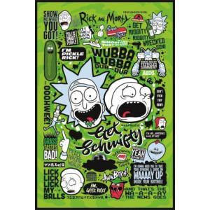Плакат Rick and Morty Quotes