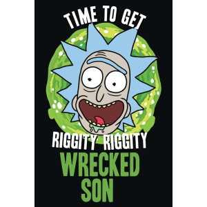 Плакат Rick and Morty Wrecked Son