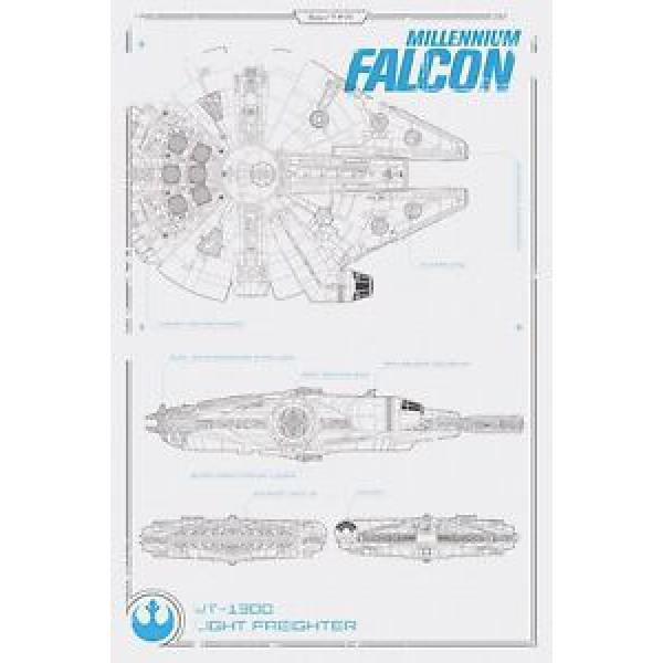 Плакат STAR WARS Falcon 1