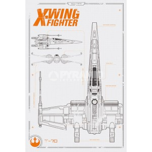 Плакат STAR WARS Wings Plan