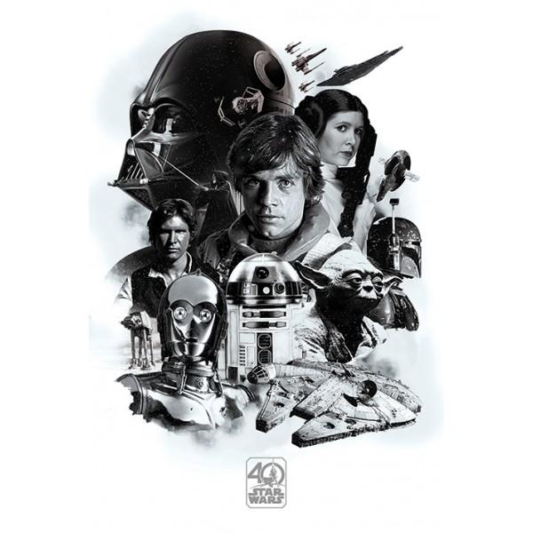 Плакат Star Wars 40th Anniversary  1