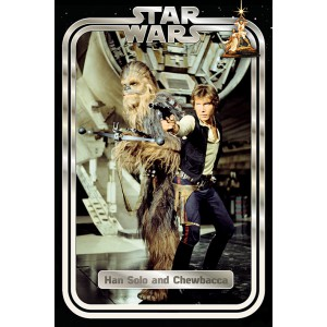 Плакат Star Wars Han and Chewie Retro