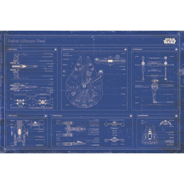 Плакат Star Wars Rebel Blueprint 1