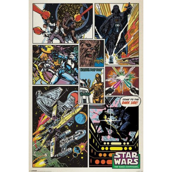 Плакат Star Wars Retro Comic  1
