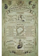 Плакат Harry Potter Hogwarts School List