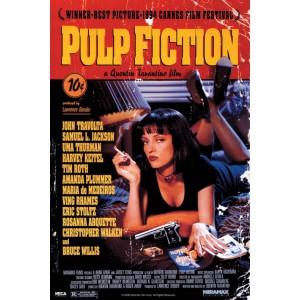 Плакат Pulp Ficton Uma on a Bed
