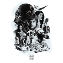 Плакат Star Wars 40th Anniversary