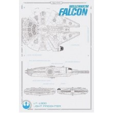 Плакат STAR WARS Falcon
