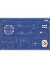 Плакат Star Wars Imperial Fleet Blueprint