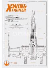 Плакат STAR WARS Wings Plan