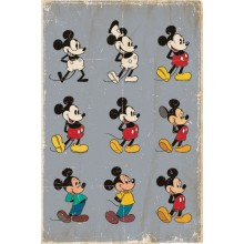 Плакат The Evolution of Mickey Mouse