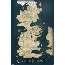 Постер Игра на Тронове Карта