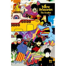 Постер The Beatles Yellow Submarine