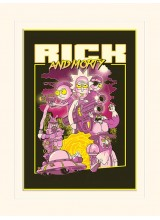 Принт Rick and Morty 80s Action Movie