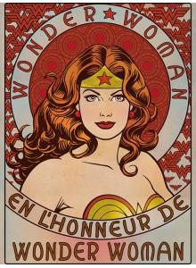 Принт Върху Платно Wonder Woman