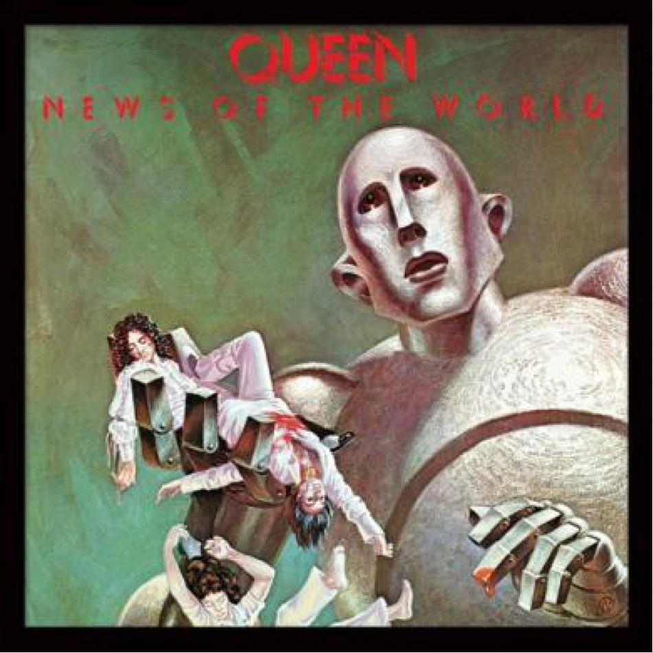 Framed Print Album Cover Queen News of the World