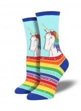 Чорапи Еднорог Rainbow Hair Don't Care 35-43