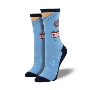 Blue Doctor Scrubs Socks 35-43