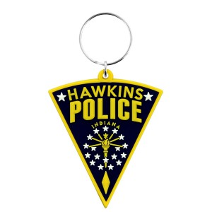 Rubber Keychain Stranger Things Hawkins Police