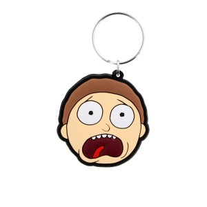 Rubber Keychain Morty Terrified Face