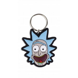 Rubber Keychain Rick and Morty Crazy Smile