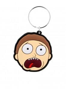 Гумен Ключодържател Morty Terrified Face