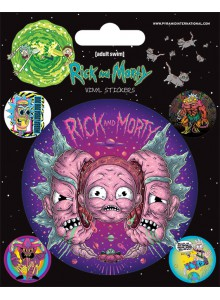 Комплект Стикери Rick and Morty Psychedelic Visions