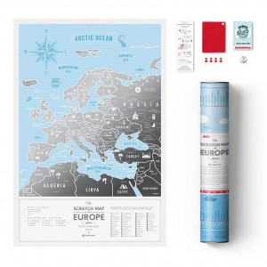 Скреч Карта на Европа Silver