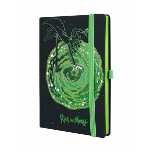 A5 Premium Notebook Rick and Morty Portal