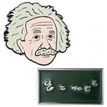 Комплект 2 Значки Алберт Айнщайн