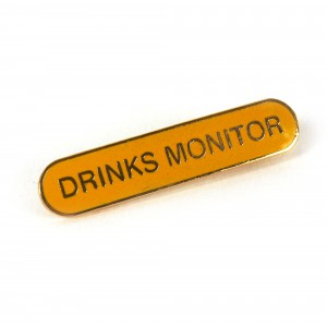 Badge Old School Drinks Monitor
