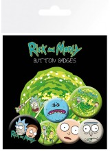 Комплект Значки Rick and Morty Charachters
